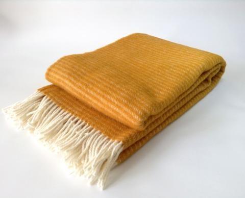 Klippan Lambs Wool Blanket - Ralph Mustard * * 100% NZ WOOL * *