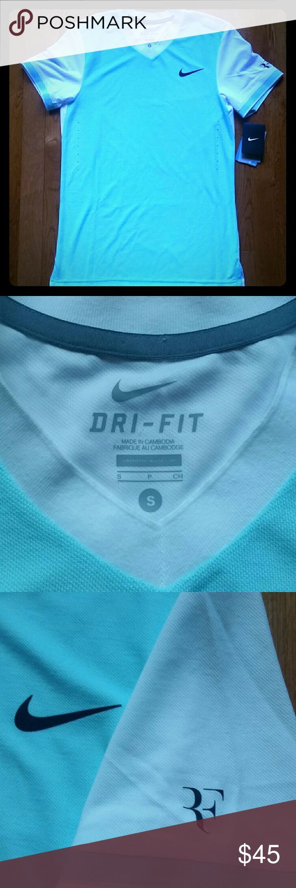 Nike Roger Federer Tennis dri-fit shirt BNWT nike Shirts Tees - Short Sleeve