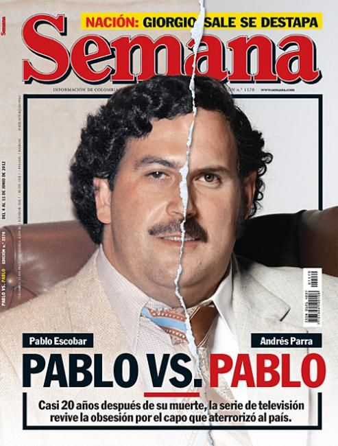 Semana (Colombia)  Pretty good new cover of Semana magazine Portada: Pablo EscobarA TV Serial relives the life of this drug dealerart-director Hernán Sansone editor in chief. Alejandro Santos