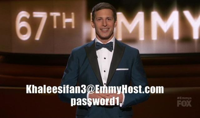 Andy Samberg gave away his HBO Now account to millions at the Emmy Awards! | moviepilot.com