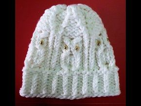 How to Loom Knit an Owl Hat