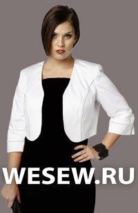 Patrón chaqueta corta sin cremallera para mujeres más grandes
