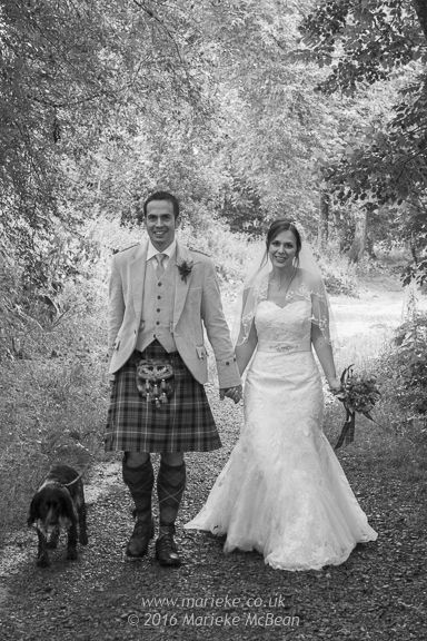 Even the wettest of days won't put me off taking some lovely wedding photos. This was taken on a very wet summer's day, but a stroll on the banks of the River Tay in Aberfeldy still resulted in some very satisfactory wedding photos. You'd think it wasn't even raining!   http://mariekemcbean.zenfolio.com ©2017 Marieke McBean Photography