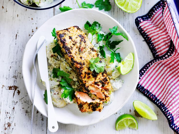 This tender, flaky jerk salmon with zingy flavoursome yoghurt potatoes really hits the spot! The perfect dish for dinner tonight - quick, easy, and so delicious!