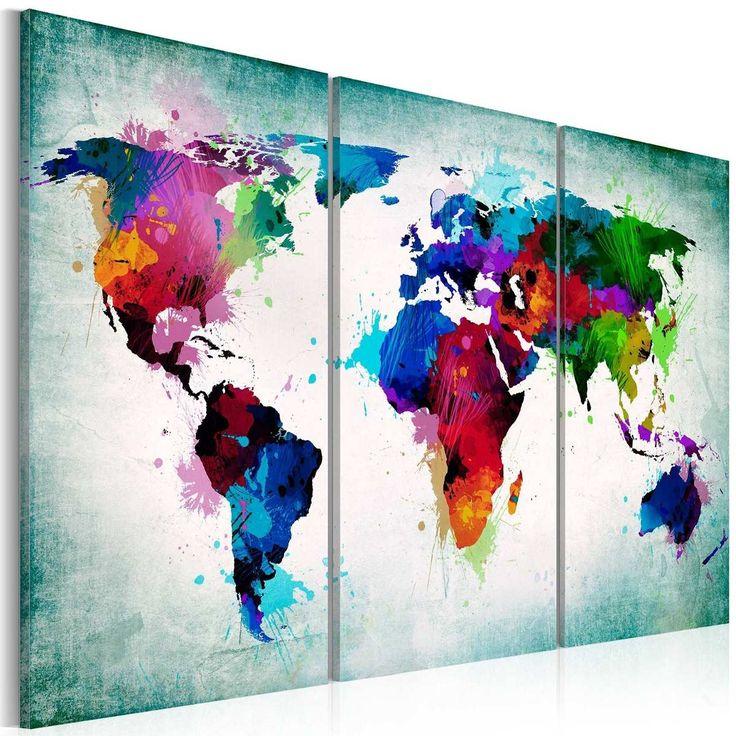 Cuadros Tripticos. Mural 150 X 70 Cm. Pintados A Mano - $ 980,00 en MercadoLibre
