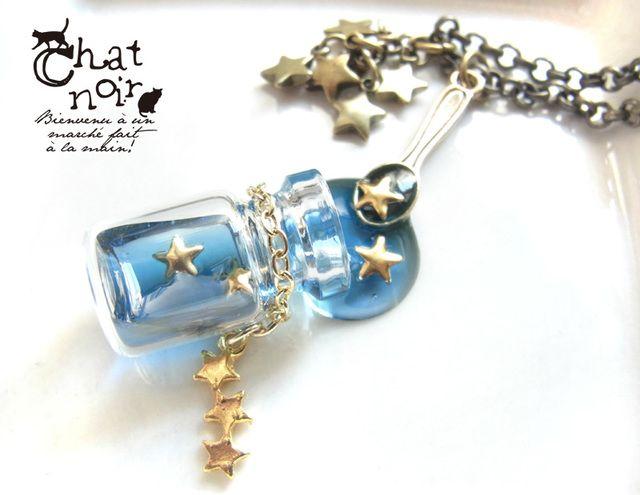 【New】ごちそうスプーンのネックレス*ひとさじの星空ボトル