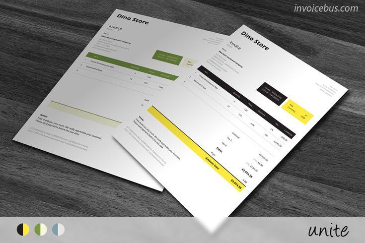 HTML Plantilla de factura - Unite