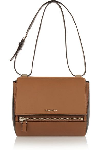 Givenchy - Medium Pandora Box bag in tan and black leather