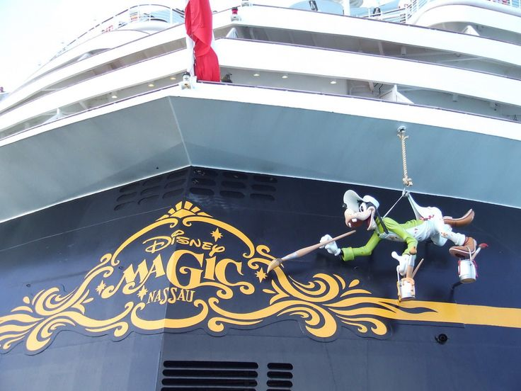 Whimsical Side of Disney Cruise Line Is Shown in Bow of Disney Magic
