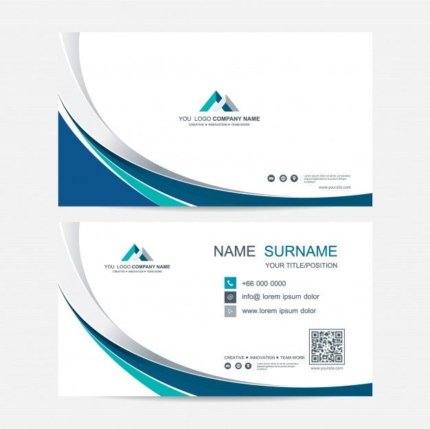Business Card Vector Background Vector Business Card Graphic Design Business Card Business Card Template Design
