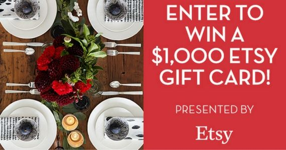Win a $1,000 Etsy Gift Card