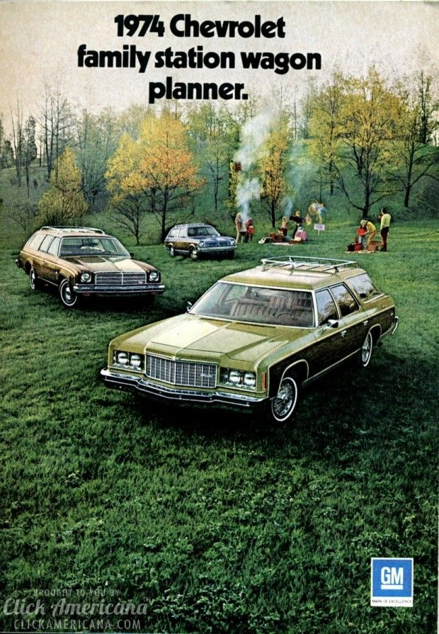 1974 Chevrolet family station wagon planner Ours was red, got terrible gas mileage.  Carried an entire baseball team, no seat belts.