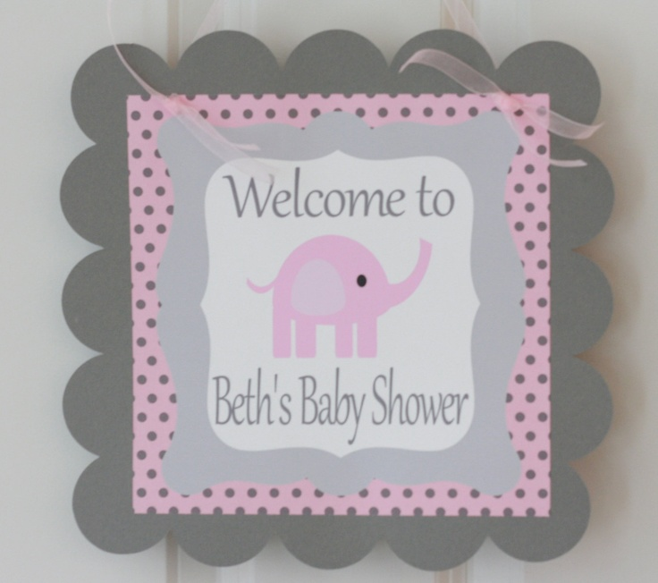 Pink And Gray Elephant Baby Shower Decorations: 12 Best Pink & Grey Elephant Baby Shower Ideas Images On