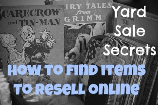 How to find items to buy from a garage sale and resell online to make money. Plus the top 10 items NEVER to buy. Make money online with these secrets.