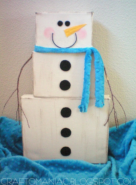 {Frosty the Canvas Snowman}: Holiday Ideas, Christmas Crafts, Canvas Snowman, Christmas Winter, Craft O Maniac, Snowman Craft, Craft Ideas, Christmas Ideas, Canvases