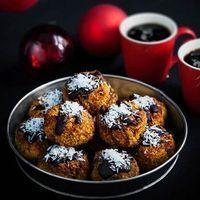 LCHF Kokoskakor med saffran och mörk choklad