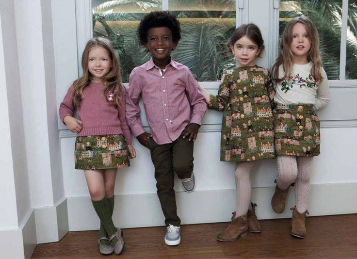 children's clothes -Pan con chocolate Brand AW16 lookbook www.panconchocolate.com