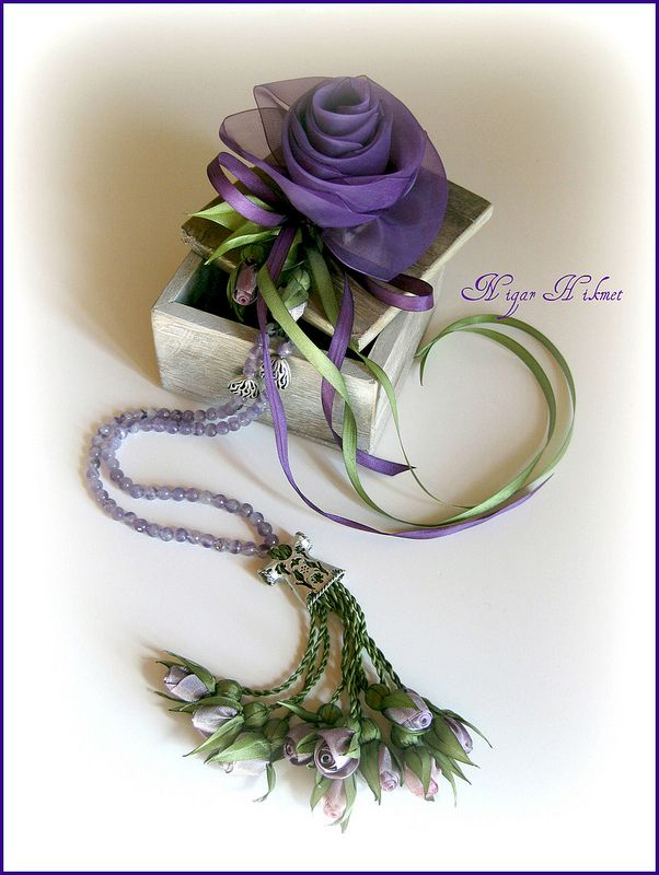 ametis taşlı mor güllü tesbih | Flickr - Photo Sharing!