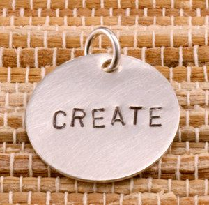 Beaducation: Stamping on Metal Starter Kit - I like these really simple ones. Would be cute with a leather necklace and one pottery bead.