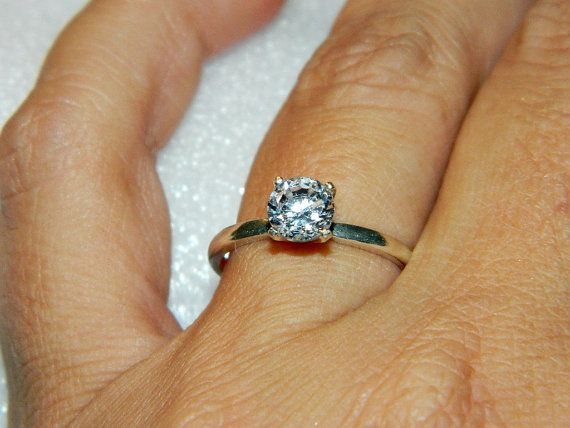 Simple promise ring silver by JewelrybyDecember67 on Etsy, $54.00
