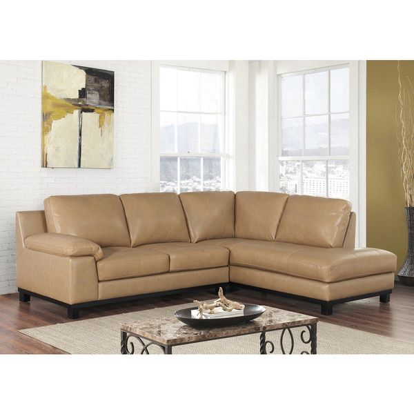 ABBYSON LIVING Pearce Top Grain Leather Sectional - 18682155 - Overstock.com Shopping - Big Discounts on Abbyson Living Sectional Sofas