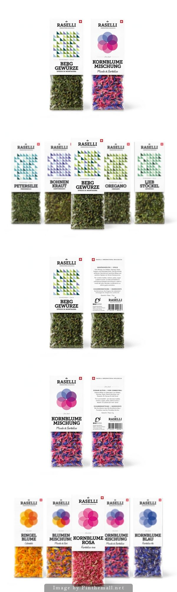 Beautiful packaging on Raselli Organic Herbs & Blossoms by PlasmaDesign Studio PD