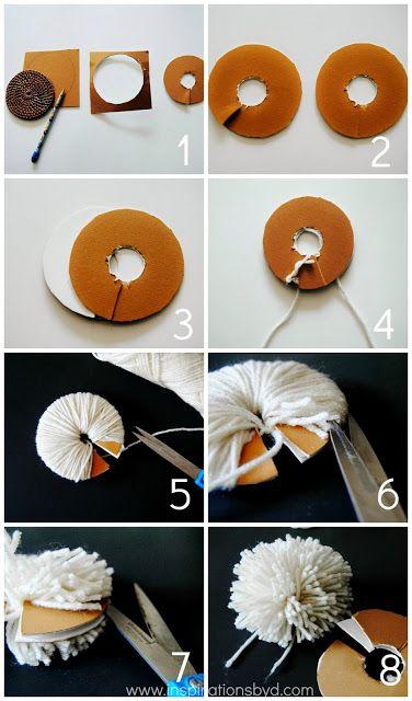 Inspirations by D: DIY: Pom Pom Ornament