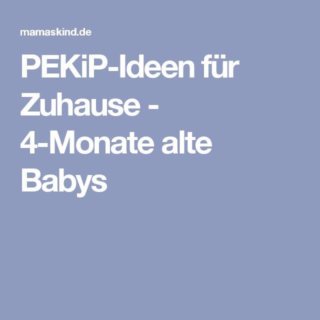 PEKiP-Ideen für Zuhause - 4-Monate alte Babys