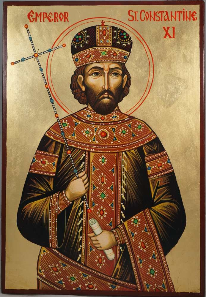Hand-painted icon of Emperor St Constantine XI About our icons BlessedMart offers hand-painted religious icons that follow the Russian, Greek, Byzantine and Roman Catholic traditions. We partner with some of the most experienced iconographers in the country. Artists with more than 20 years of experience in modern iconography. Each and every icon that we sell in our