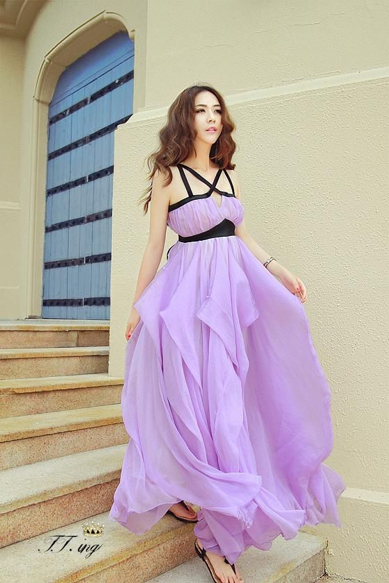 2013 new products dresses one piece big size expansion skirt spaghetti strap beach dress for women-inDresses from Apparel & Accessories on Aliexpress.com