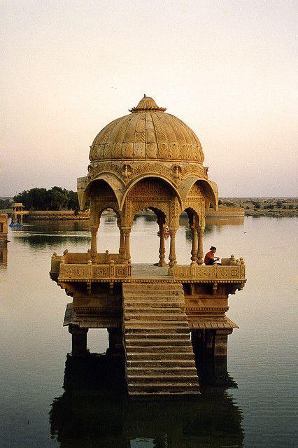 Floating temple, Gadisar, Jaisalmer, rajasthan, India