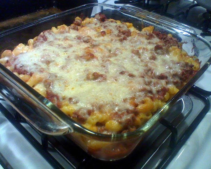 """Mac and cheese with hamburger! """"Very delicious no matter how you make it. ^__^""""  @allthecooks #recipe #hamburger #easy #cheese #hot #quick"""