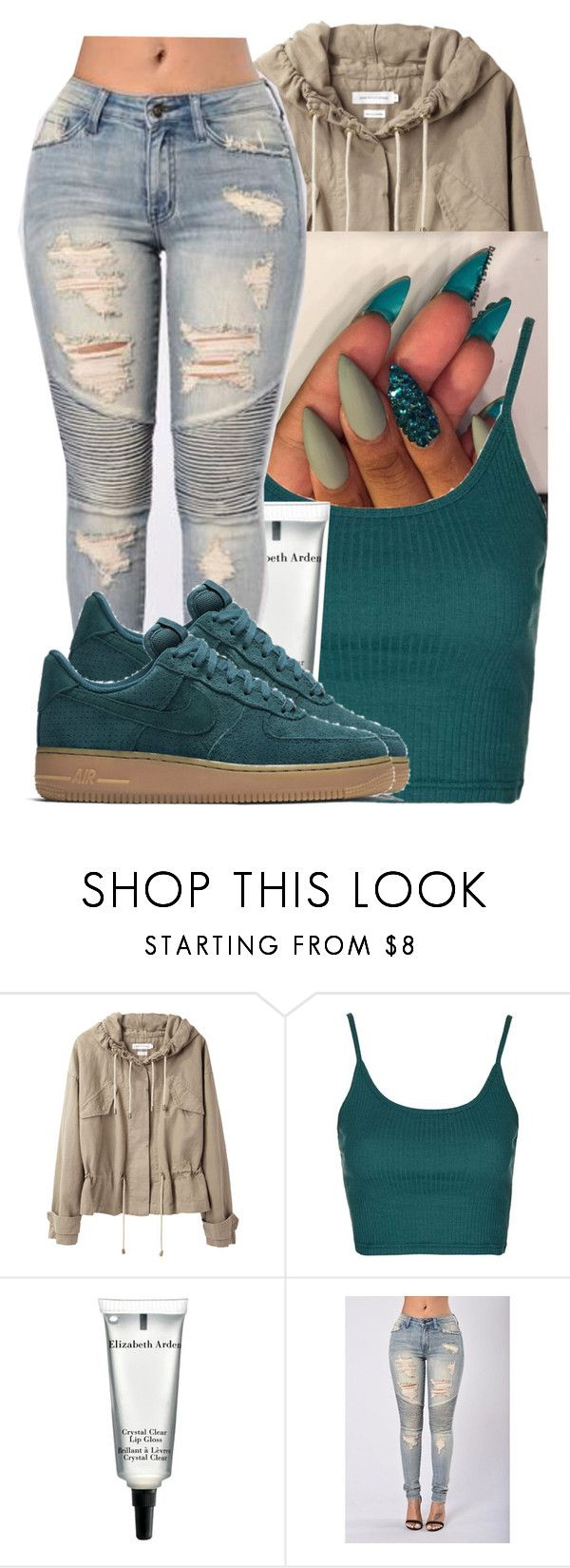 """Untitled #2553"" by kayla77johnson ❤ liked on Polyvore featuring Étoile Isabel Marant, Topshop, Elizabeth Arden and NIKE"