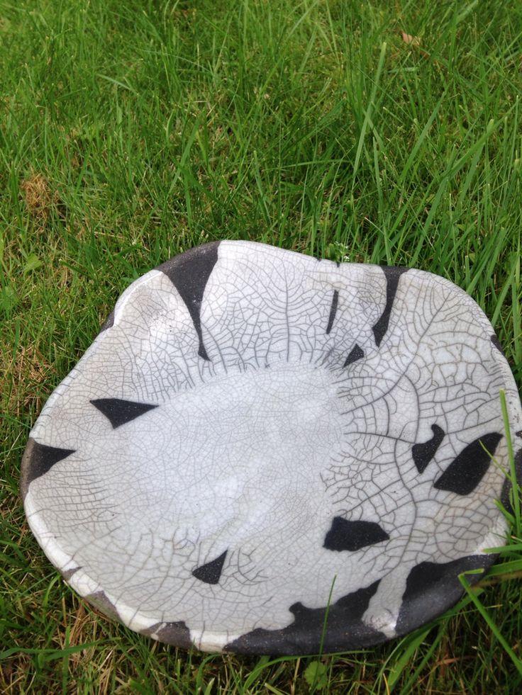 Pottery raku bowl