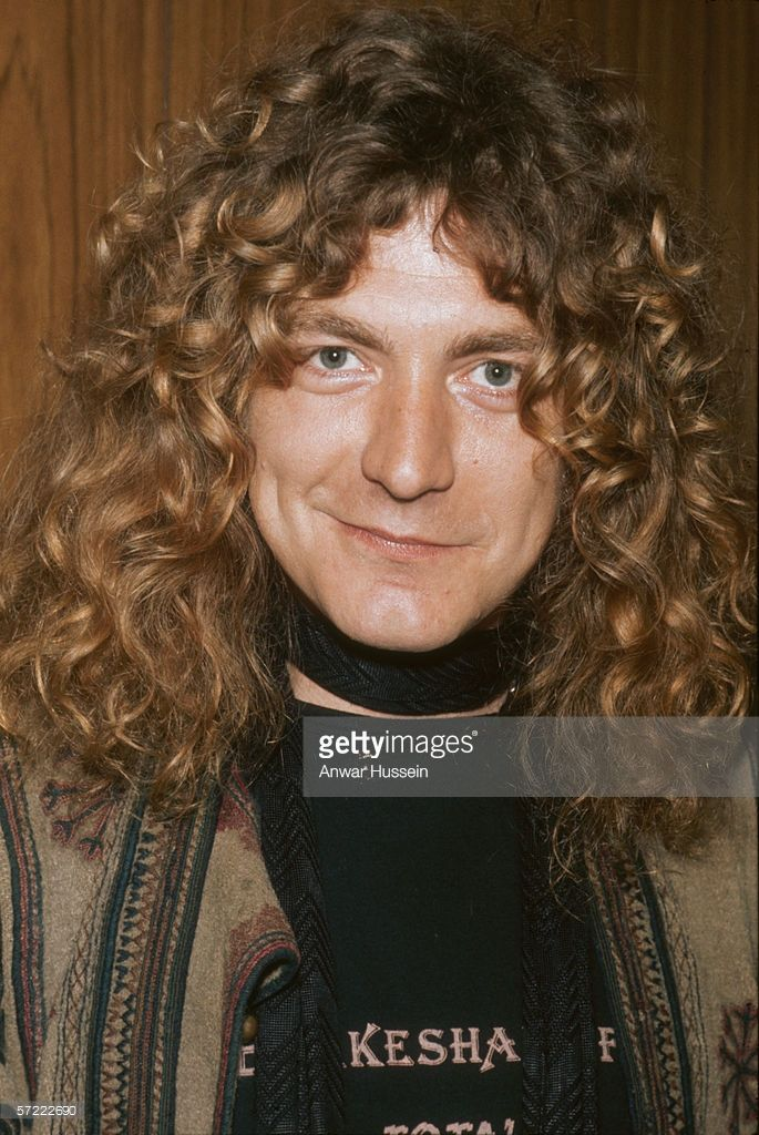 Robert Plant, singer with the rock group Led Zeppelin, circa 1985.