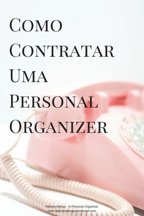 como contratar uma personal organizer