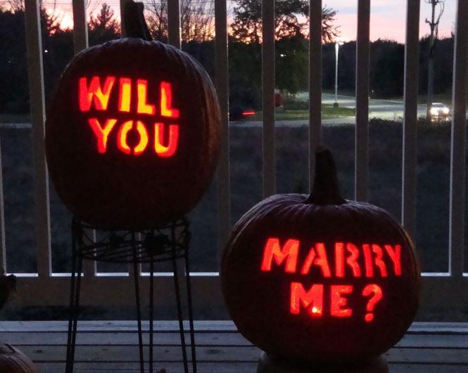 Pumpkin proposal. Cute :)
