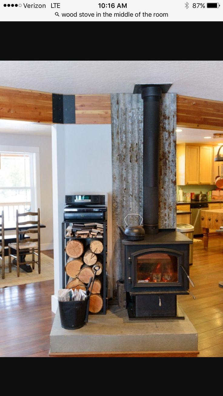 Wood Stove Surround Farmhouse