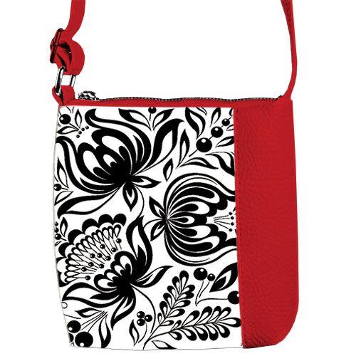 Красная детская сумка для девочки с принтом Роспись - Магнетто в Хмельницком