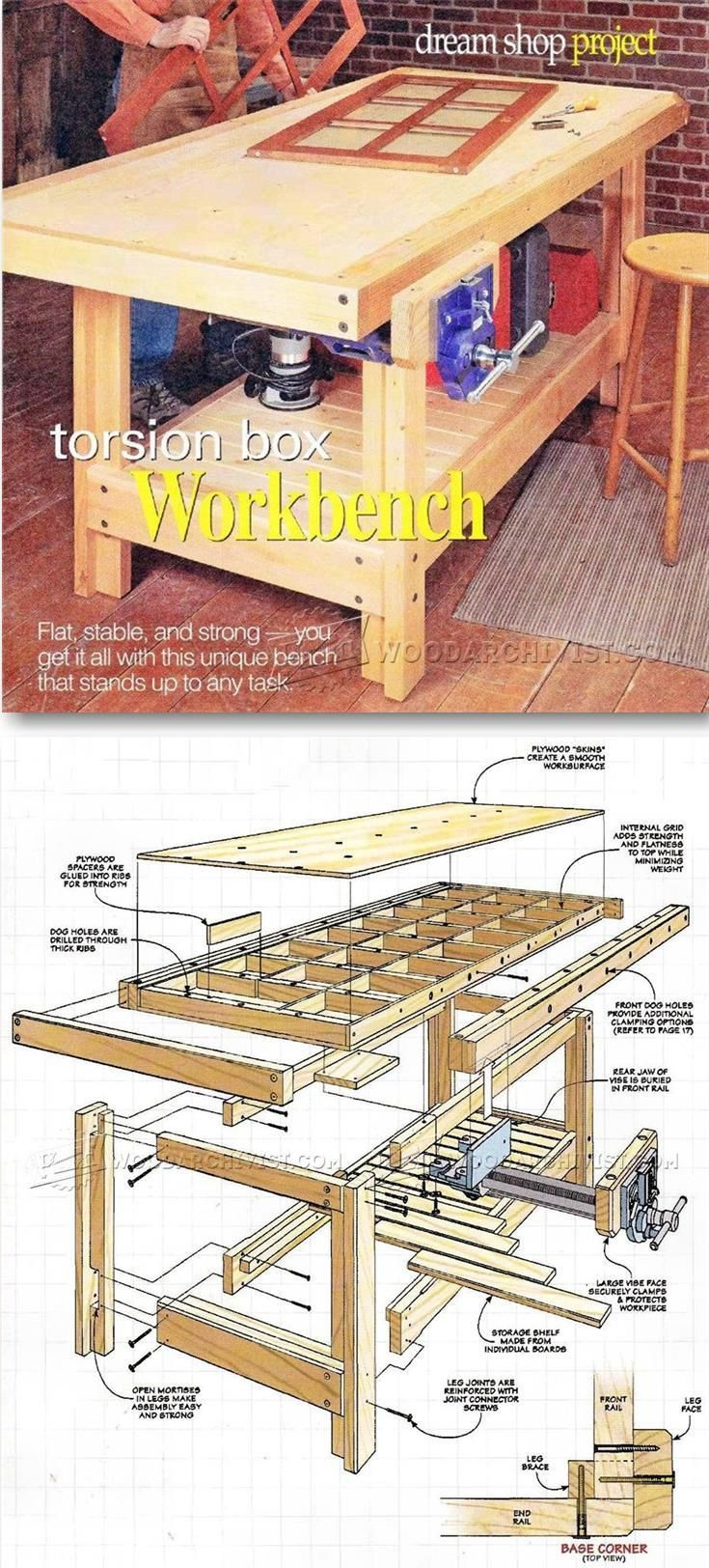Torsion Box Workbench Plans - Workshop Solutions Plans, Tips and Tricks | WoodArchivist.com