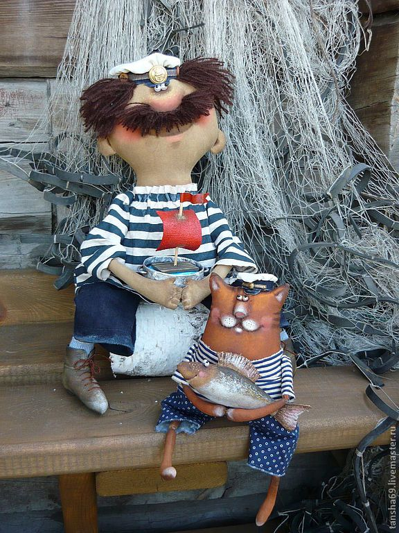Мореманы - примитив,примитивная кукла,примитивы,текстильная кукла,ароматизированная кукла