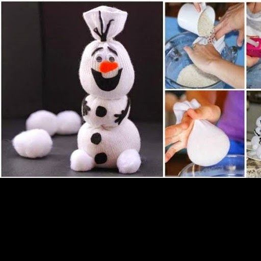 DIY Olaf Sock Snowman  How to make -> http://www.goodshomedesign.com/diy-olaf-sock-snowman/ - Home Design - Google+