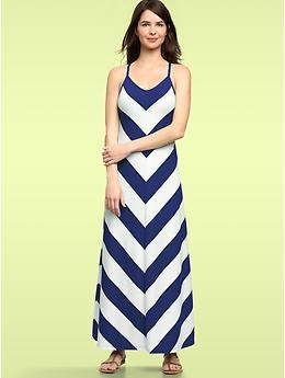 Chevron stripe maxi dress...despite my hatred of maxi dresses, I want