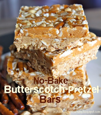 No-Bake Butterscotch-Pretzel Bars: Chocolates Chips, Baking Butterscotch, Butterscotch Bar, Butterscotch Pretzels Bar, Sweet Tooth, Gluten Free, Butterscotchpretzel Bar, No Bak Butterscotch Pretzels, Nobak Butterscotchpretzel