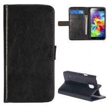 Forro Libro Samsung Galaxy S5 mini Magnetica Stand Negra $ 23.200,00