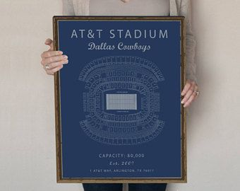 AT&T Stadium Sign, Dallas Cowboys Decor, Dallas Cowboys Sign, Gift for Dallas Cowboys Fan, Cowboys Stadium, Dallas Cowboys seating chart.