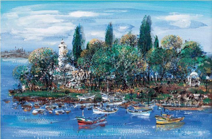 Mustafa Pilevneli (1940 – ) – Fenerbahçe  Ağırlıklı suluboya zaman zaman akrilikte çalışan sanatçının ilüstrasyon nitelikli bezemesi bir üslubu vardır. Doğayı, yaşadığı çevreyi konu alan yapıtları, büyük bir yaşama coşkusu verir. Renk, doku, biçim ilişkilerini ustaca kuran ışık, hareket, renk değişimlerini özenli bir gözlemle yakalayan sanatçı, bu değişken ortama uygun olduğu için suluboyayı seçmiştir.