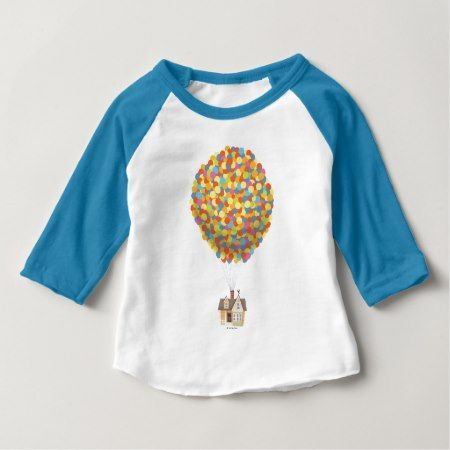 Disney Pixar UP | Balloon House Pastel Baby T-Shirt - click/tap to personalize and buy