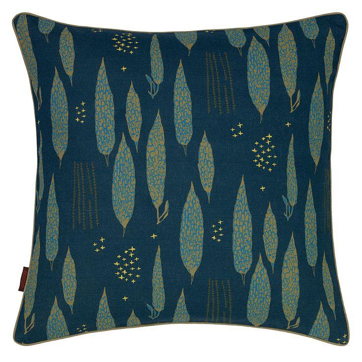 Poplar Cushion - Petrol Blue from etoile-home.com