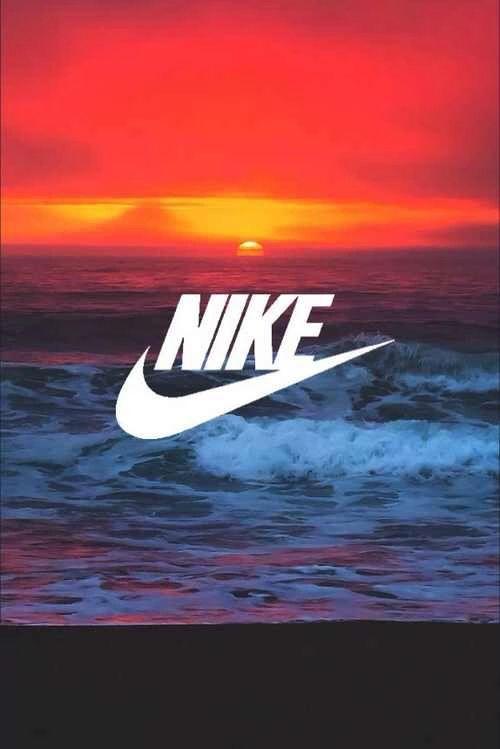 Nike, parfaitement, soleil, tapisserie